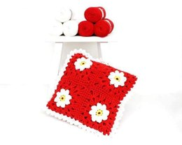Puff Daisy Cushion in Hoooked RibbonXL