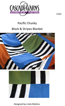 Blocks & Stripes Blanket in Cascade Pacific Chunky - C232