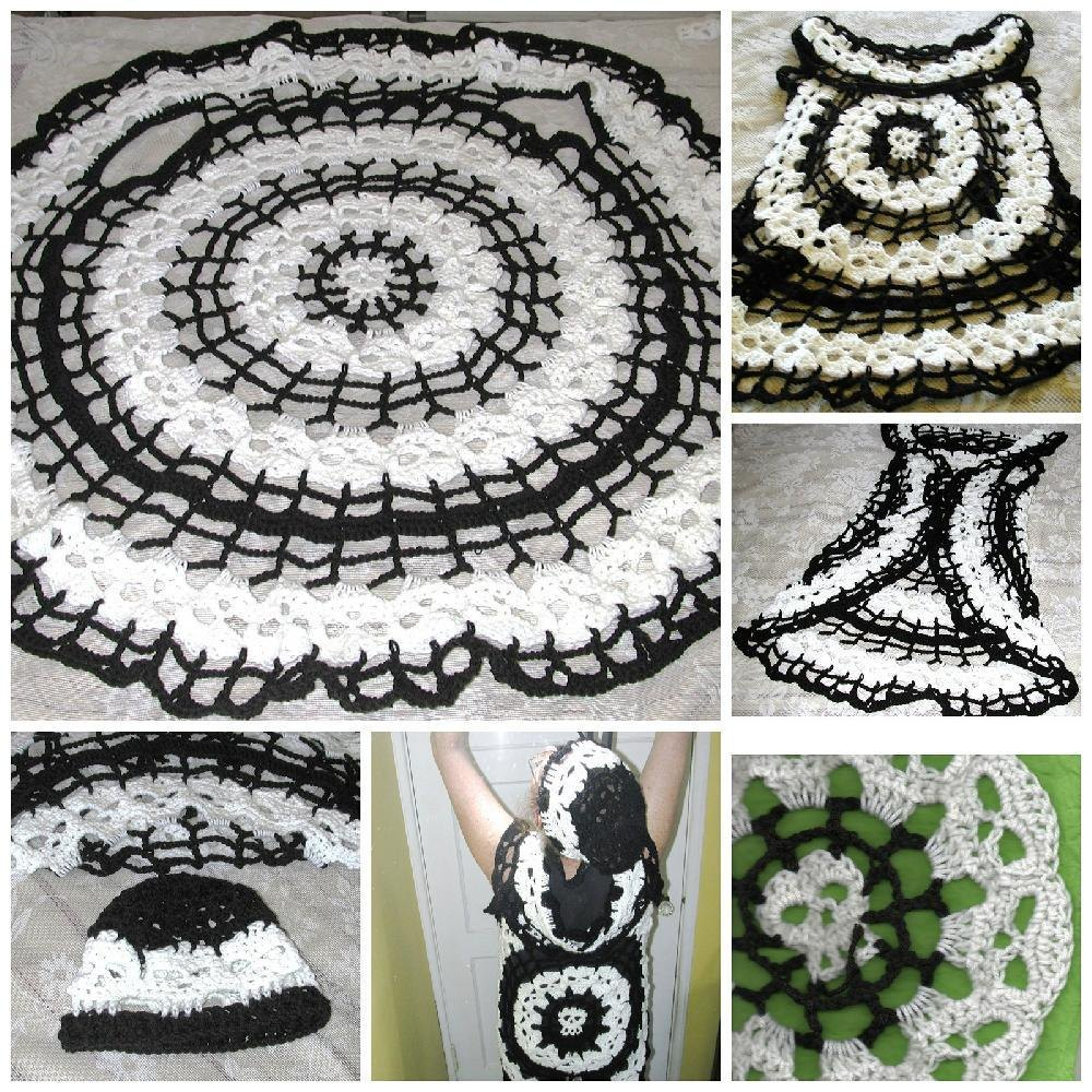 Bone Dance Creepy Skull Circle Vest Crochet pattern by Spider Mambo ...