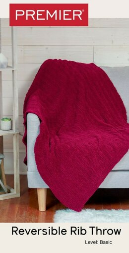Parfait Reversible Rib Throw in Premier Yarns Parfait Big - Downloadable PDF