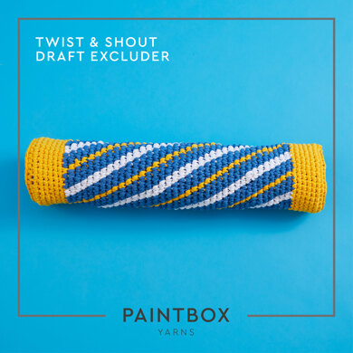 """""""Twist and Shout Draft Excluder"""" - Free Cushion Crochet Pattern For Home in Paintbox Yarns Recycled T-Shirt by Paintbox Yarns"""