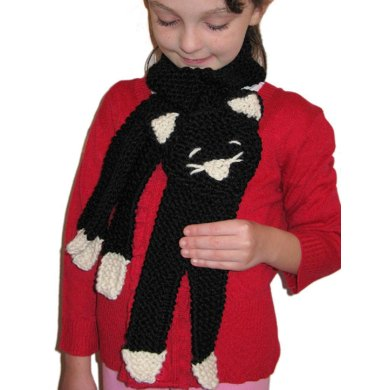 Pretty Kitty Scarf Knitting Pattern By Craft Designs For You
