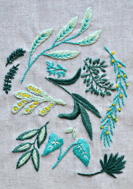 Anchor Green leaves - ANC0003-79 - Downloadable PDF