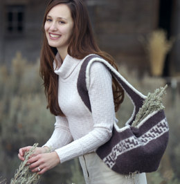 Gathering Bag in Imperial Yarn Native Twist - P110 - Downloadable PDF