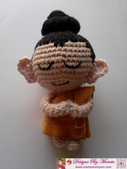 Crochet Baby Buddha Pattern Unique Amigurumi Doll