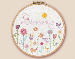 Un Chat Dans L'Aiguilles A Welcome Garden Contemporary Embroidery Kit