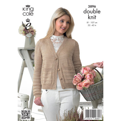 Ladies' Cardigans in King Cole Giza Cotton DK - 3896
