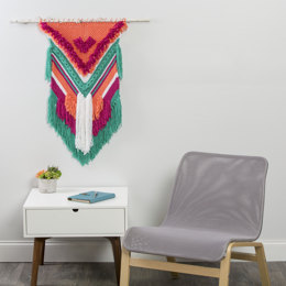 Modern Chevron Wall Hanging in Premier Yarns Everyday Bulky - Downloadable PDF