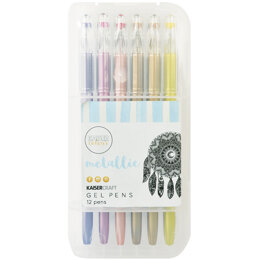 Kaisercraft KaiserColour Gel Pens 12/Pkg - Metallic