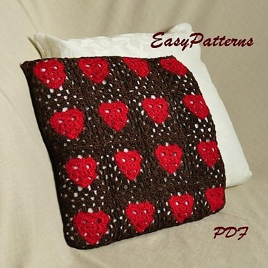 Granny Heart Cushion Crochet pattern by EasyPatterns Knitting Patterns Lo...