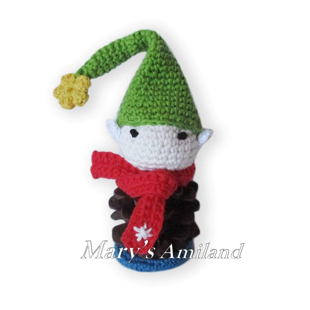 Pine Cone Elf Crochet pattern by Mary\'s Amiland