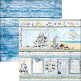 """Ciao Bella Double-Sided Cardstock 90lb 12""""X12"""" 12/Pkg - Summer Cards, Sound Of Summer"""