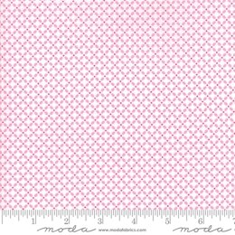 Moda Fabrics First Romance Honey Bun Floral Cut to Length - Garden Gate Pink