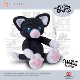 Creative World of Crafts Knitty Critters Charlie The Kitten - 28cm