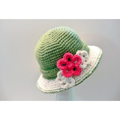 5376980cbfd Ladies Double Brimmed Crochet Hat Crochet pattern by Meadowvale ...