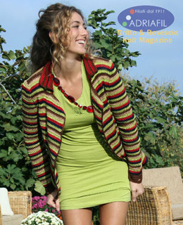 Azalea Cardigan in Adriafil Cheope - Downloadable PDF