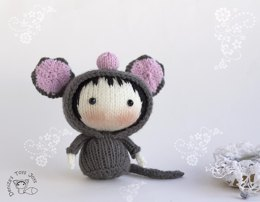 Gray Mouse Doll