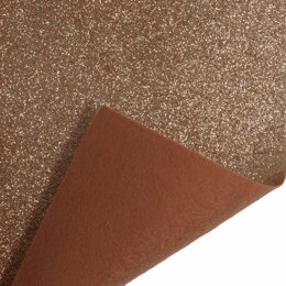 Trimits Glitter Felt Sheet - 23cm x30cm - Rose Gold