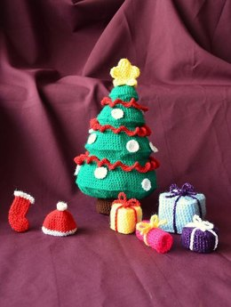 Christmas Tree with Gifts Crochet Pattern, Christmas Tree Crochet Pattern, Christmas Tree Amigurumi, Presents Crochet Pattern