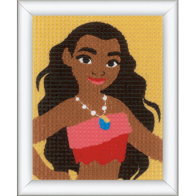 Vervaco Long Stitch Kit: Disney: Moana Bold Adventurer - 16 x 12.5cm