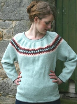 Diamonds Are Forever Sweater in Susan Crawford Excelana 4 Ply