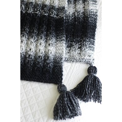 Faux Cable Blanket