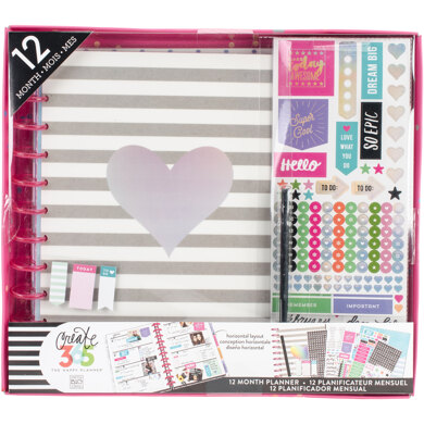 Me & My Big Ideas Happy Planner 12-Month Undated Big Planner Box Kit - Rainbow Foil