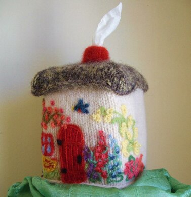 Wee Cottage Tissue Box Cover Knitting Pattern By Lisa