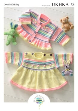 Dress and Cardigan in King Cole Baby DK - UKHKA73pdf - Downloadable PDF
