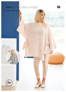 Cardigan and Poncho in Rico Fashion Bisous Chunky - 631 - Leaflet