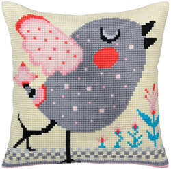 Collection D'Art Spring Tweet I Cross Stitch Cushion Kit - Multi