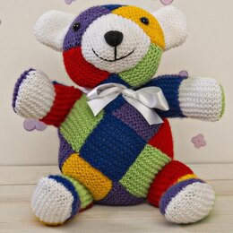 Knitted Square Bear