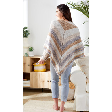 Simple Triangle Shawl in Premier Yarns Sweet Roll Frostie - STS002 - Downloadable PDF
