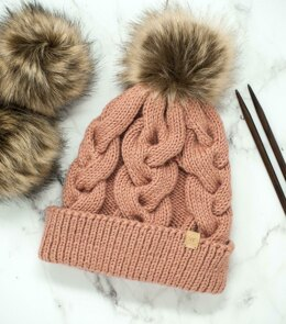 Rose Cable Hat