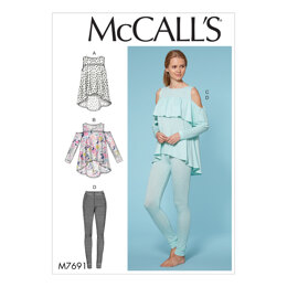 McCall's Misses' Yoke Tops and Pants M7691 - Paper Pattern Size XS-S-M-L-XL