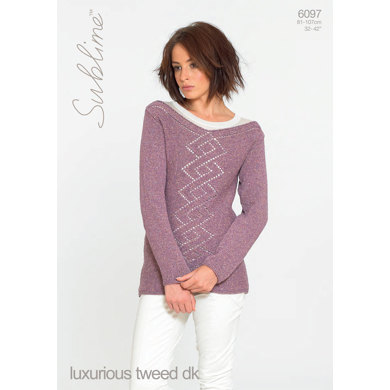 Sweater in Sublime Luxurious Tweed DK - 6097 - Downloadable PDF