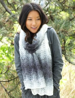 Lofty Ripple Scarf in Patons Lace