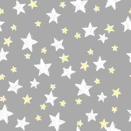 Craft Cotton Company Goodnight - Stars on Grey