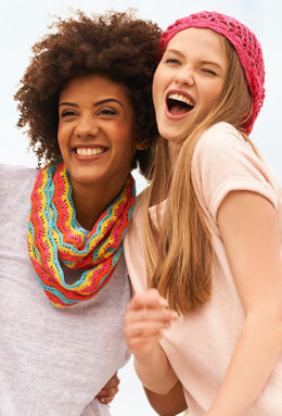 Colorful Ripple Cowl in Aunt Lydia's - LC4493 - Downloadable PDF