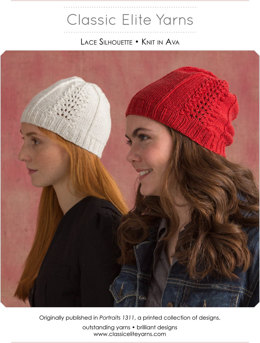 Lace Silhouette Hat in Classic Elite Yarns Ava - Downloadable PDF