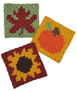 C2C Autumn Dishcloths