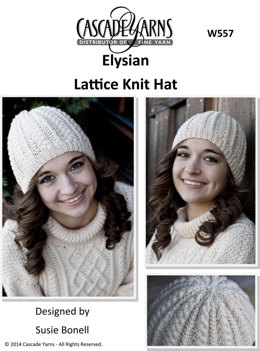 Lattice Knit Hat in Cascade Elysian - W557