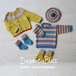 Fairground Fairisle - Layette Knitting Pattern For Toddlers in Debbie Bliss Baby Cashmerino by Debbie Bliss
