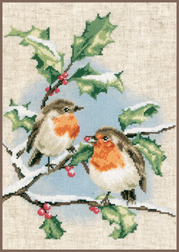Vervaco Winter Robins Cross Stitch Kit