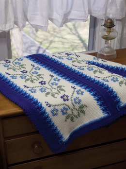 Morning Glory Afghan in Red Heart Super Saver Economy Solids - WR1708,CD 455-05