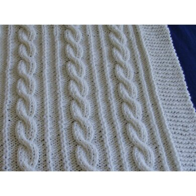 Lovely Cabled Baby Blanket