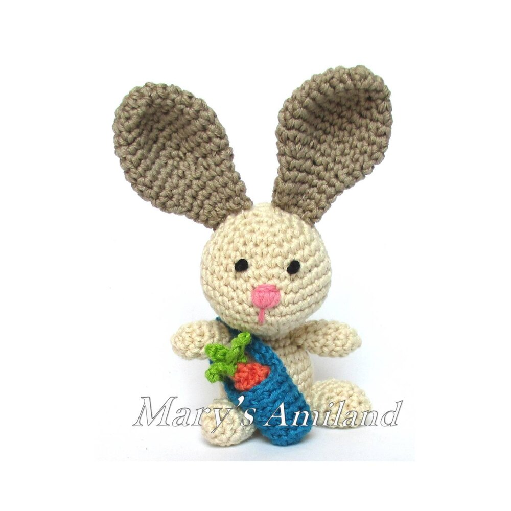 PDF Pattern Crochet Toy Cute Bunny Long Ears Amigurumi Pattern ... | 1000x1000