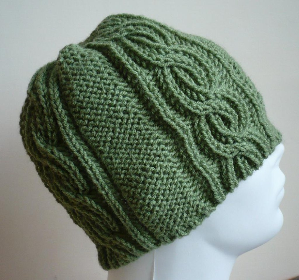 Brioche and cables hat knitting pattern by yellow mleczyk brioche and cables hat zoom bankloansurffo Choice Image