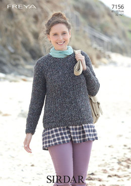 Woman's Sweater in Sirdar Freya - 7156