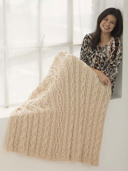 Dancing Cable Afghan in Lion Brand Heartland - L40216